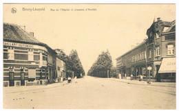 Bourg-Léopold - Rue De L'Hôpital Et Chaussée D'Hechtel 1921  (Geanimeerd) - Leopoldsburg