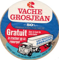 ETIQUETTE FROMAGE FONDU POUR TARTINES -     VACHE GROSJEAN -   225gr  - Jura  39-k - Cheese