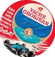 ETIQUETTE FROMAGE FONDU POUR TARTINES -     VACHE GROSJEAN -   JAMBON 170gr  - Jura  39-k - Cheese