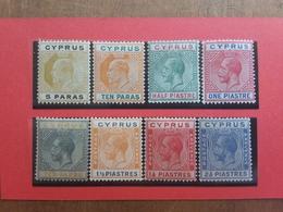 EX COLONIE INGLESI 1904/24 - CIPRO - Re Edoardo VII° E Giorgio V° - Lotticino Nuovi * + Spese Postali - Cipro (...-1960)