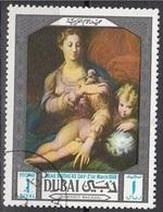 """98 Dubai 1969  """"Madonna Della Rosa"""" Errore! Mistake! Quadro Dipinto Dal Parmigianino, Non Da Mazzuoli (Leggi Descrizione - Oddities On Stamps"""
