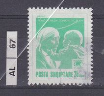 ALBANIA  1994Madre Teresa 25 L Usato - Albanien