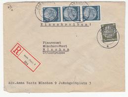 Gars (Inn) Registered Letter Cover Travelled 1937 To Munchen B180725 - Deutschland