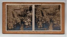 Ancienne CARTE Vue Stéréoscopique Guerre 1914-18 Attaque De Verdun 1916 Poste De Secours Des Carrières St Vaast - Stereoscopic
