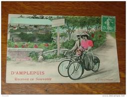 D'AMPLEPUIS Recevez Ce Souvenir  ................. EP......50 - Amplepuis
