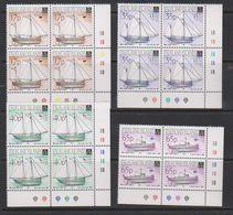 Falkland Islands 1998 Local Vessels 4v Bl Of 4 (corner)** Mnh (39705) - Falklandeilanden