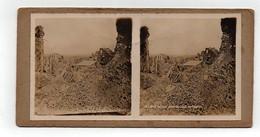 Ancienne CARTE Vue Stéréoscopique Guerre 1914-18 Lens Ruines Vues Du Haut De L'église - Stereoscoop
