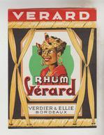 3 ETIQUETTES PUBLICITE ALCOOL - RHUM VERARD Bordeaux (33), COGNAC BRELARD, ARMAGNAC VAVA Laujuzan Gers - Labels