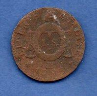Convention -   Sol Aux Balances  1793 BB -- état  B - 1789-1795 Period: Revolution