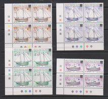 Falkland Islands 1998 Local Vessels 4v Bl Of 4 (corner)** Mnh (39705D) - Falklandeilanden