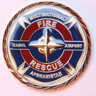 Militaria_Coin ISAF-KAIA_Fire Rescue_sécurité Aérienne Kabul - Armée De Terre