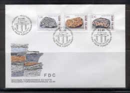 Finland E49 FDC 1986 3v Geology Stones Granite SC Work Instrument - FDC