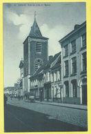 * Menen - Menin (Leie - West Vlaanderen) * (SBP, Nr 13) Rue De Lille Et L'église, Animée, Au Caoutchouc, Char, TOP - Menen