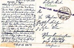 CP Avec Cachet Landst Inft Batl Wasserburg 1. Komp Obl KEHL Du 19.9.18 Pour Schwabmünchen - Poststempel (Briefe)