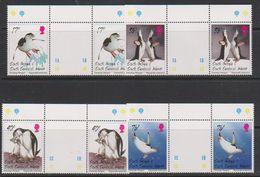 South Georgia 1996 Chinstrap Penguins 4v Gutter (+margin)  ** Mnh (39706A) - Zuid-Georgia
