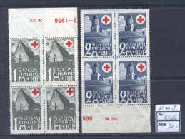 Finland H42 MNH 1931 8v Church Castle Architecture Red Cross CV 20 Eur - FDC