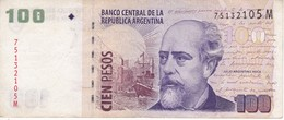 BILLETE DE ARGENTINA DE 100 PESOS  (BANKNOTE) JULIO ARGENTINO (DIFERENTES FIRMAS) - Argentina
