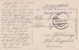 CP Avec Cachet Landst Inft Batl Wasserburg 1. Komp / Deutsche Feldpost 742 Obl K.D.Feldpost Du 14.2.17 Pour Glattwang - Poststempel (Briefe)
