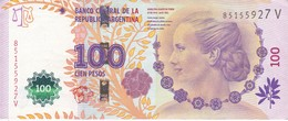 BILLETE DE ARGENTINA DE 100 PESOS DEL AÑO 2012 (BANKNOTE) DIFERENTES FIRMAS - Argentina