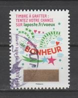"""FRANCE / 2016 / Y&T N° AA 1342 : """"Voeux à Gratter"""" (Bonheur) - Choisi - Cachet Rond - Frankreich"""