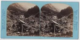 Photo Originale Stereo XIXème Vallée De Lutour Scierie Par LAMY - Photos Stéréoscopiques