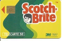 Télécarte SCOTCH BRITE - Sponsor Officiel Des Jeux Olympiques - 50 U GEM - 01/92 (N° 198) - Jeux Olympiques