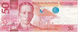 BILLETE DE FILIPINAS DE 50 PISO DEL AÑO 2016  (BANKNOTE) TAAL LAKE - Filipinas