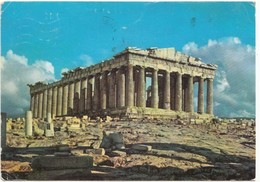 Greece, ATHENS, The Parthenon, 1965 Used Postcard [21548] - Greece