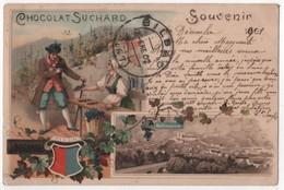 CPA Litho Souvenir BELLINZONA (Suisse) - Publicité Cacao Suchard Vente Gousses De Vanille - Werbepostkarten