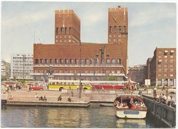 Norway, Oslo, The Oslo City Hall Seen From The Harbour, Used Postcard [21549] - Norway