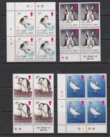 South Georgia 1996 Chinstrap Penguins 4v Bl Of 4  ** Mnh (39707A) - Zuid-Georgia