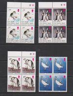 South Georgia 1996 Chinstrap Penguins 4v Bl Of 4  ** Mnh (39707B) - Zuid-Georgia
