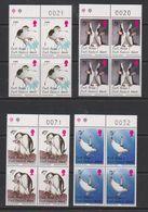 South Georgia 1996 Chinstrap Penguins 4v Bl Of 4 (sheet Number)  ** Mnh (39707C) - Zuid-Georgia