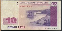 °°° LATVIA LETTONIA 1O DESMIT LATU 1992 °°° - Lettland