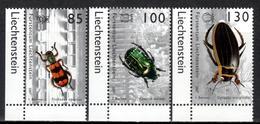 FL+ Liechtenstein 2007 Mi 1457-59 Mnh Käfer - Liechtenstein