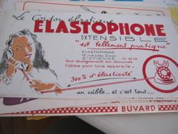 BUVARD PUBBLICITARIA ELASTOPHONE - Buvards, Protège-cahiers Illustrés