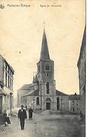 CPA / AK / PK  -  FONTAINE L'ÉVÊQUE  Église St Christophe - Fontaine-l'Evêque