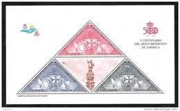 ESPAÑA 1992 - 5º CENTENARIO DEL DESCUBRIMIENTO DE AMERICA - Edifil Nº 3163 - Yvert Block 48 - 1991-00 Unused Stamps