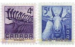 Ref. 299412 * MNH * - CANADA. 1955. PRESERVATION OF WILD LIFE WEEK . SEMANA DE LA PRESERVACION DE LA FAUNA SALVAJE - 1952-.... Règne D'Elizabeth II