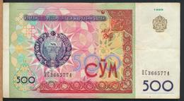 °°° UZBEKISTAN 500 CYM 1999 °°° - Uzbekistán