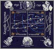 Halley Comet - Bulgaria / Bulgarie 1986 - Block MNH** - Astronomie