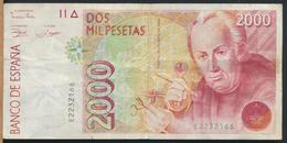 °°° SPAGNA SPAIN 2000 PESETAS 1992 °°° - [ 4] 1975-… : Juan Carlos I
