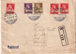 SUISSE 1931 LETTRE RECOMMANDEE DE ZURICH SANS CACHET ARRIVEE - Schweiz