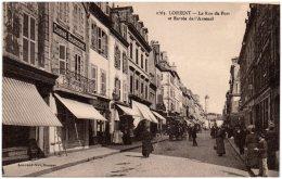 56 LORIENT - La Rue Du Port Et Entrée De L'Arsenal - Lorient