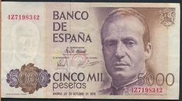 °°° SPAGNA SPAIN 5000 PESETAS 1979 °°° - [ 4] 1975-… : Juan Carlos I