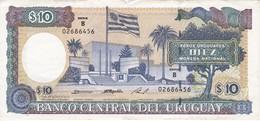 BILLETE DE URUGUAY DE 10 PESOS DEL AÑO 1995  (BANK NOTE) - Uruguay