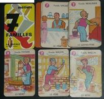 """Ancien Jeu De Cartes, 7 Sept Familles Puzzle, DUCALE, """"Les Métiers"""" Avec Règle, Menuisier Boulanger Garagiste Pêcheur - Jeux De Société"""