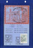 ##(DAN187/1)- GUBBIO (PERUGIA) 1976- Festa Dei Ceri, Cartolina Ufficiale Con Annullo Speciale Manifestazione - Perugia