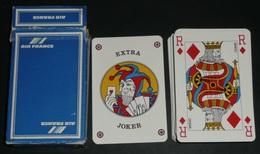 Jeu De 54 Cartes Publicitaires Air France, Dos Bleu, Joker - Jeux De Société