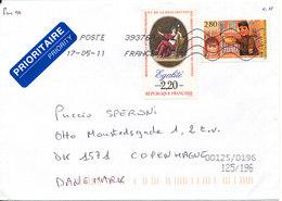 France Cover Sent To Denmark 17-5-2011 - Frankrijk